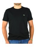 Lacoste t-shirt  uomo nero girocollo th6709