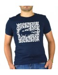 Lacoste sport t-shirt uomo blu girocollo con stampa th3382