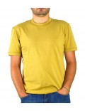 Lacoste t-shirt girocollo uomo giallo  th3205