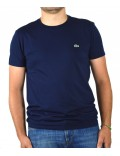Lacoste t-shirt  uomo blu girocollo th6709
