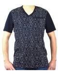 ARMANI EXCHANGE t-shirt uomo scollo a V blu