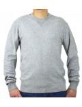 ARMANI EXCHANGE maglia uomo grigio cotone girocollo