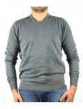 ARMANI JEANS maglia uomo grigio cotone scollo a V