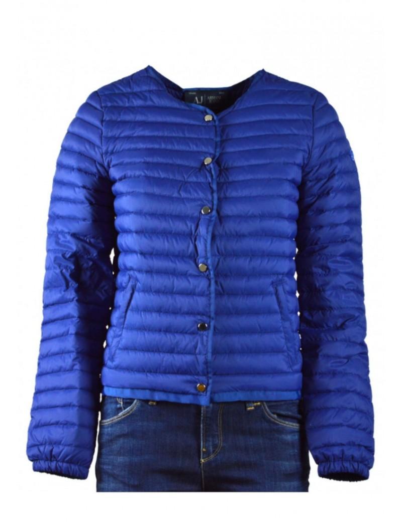 buy online b0898 bb2fd ARMANI JEANS piumino donna leggero 100 grammi piuma d'oca blu royal
