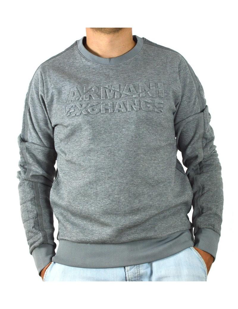 half off 12e4e 71fda ARMANI EXCHANGE maglia felpa uomo grigio girocollo 6ZZM83