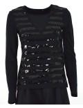 ARMANI EXCHANGE maglia donna nera paillette 6ZYM94