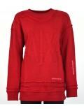 ARMANI EXCHANGE maglia  felpa donna rossa sportiva con stampa 6zymac