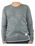 ARMANI EXCHANGE maglia uomo girocollo grigio invernale 6ZZM2A
