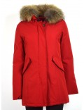 READ OUT piumino donna parka rosso