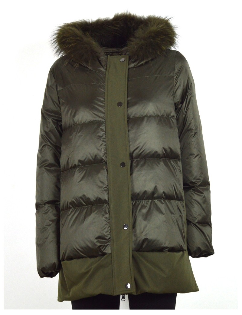 newest cc9ef c00a6 READ OUT piumino donna parka verdone 9419