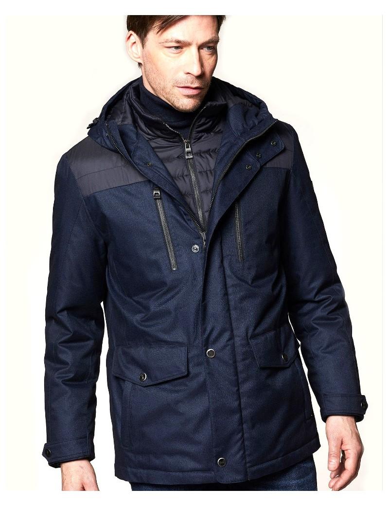 cheap for discount 82c12 e98fd BUGATTI giaccone uomo invernale blu parka lungo taglie comode