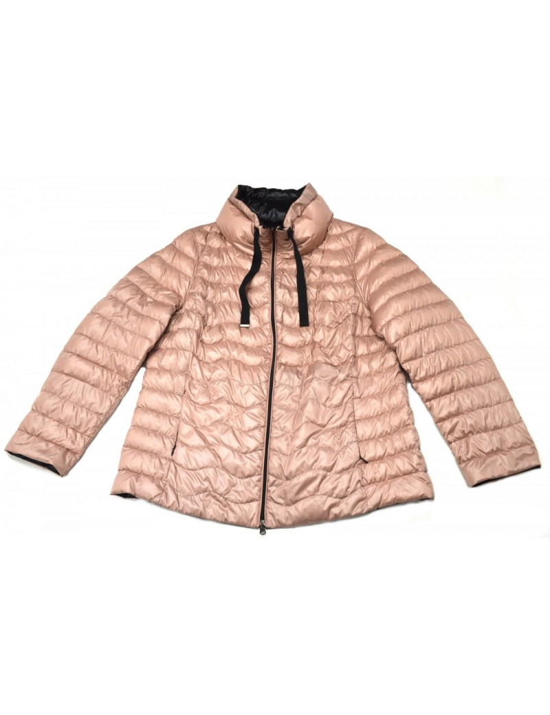 check out c3bf7 04d65 ELENA MIRO' piumino corto reversibile rosa e nero taglie comode