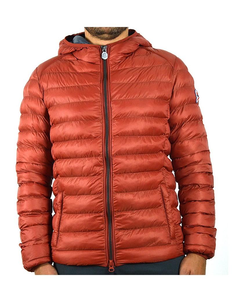 cheap for discount ffe5d 9a1b4 INVICTA giubbino uomo leggero rosso mattone corto con cappuccio invernale