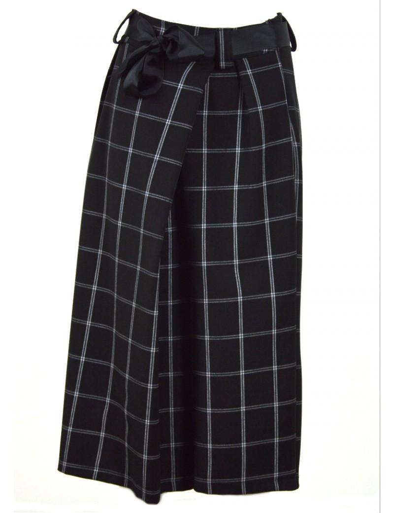 l'atteggiamento migliore 94f63 31aa3 Pantalone donna stile pantagonna nero a scacchi made in italy