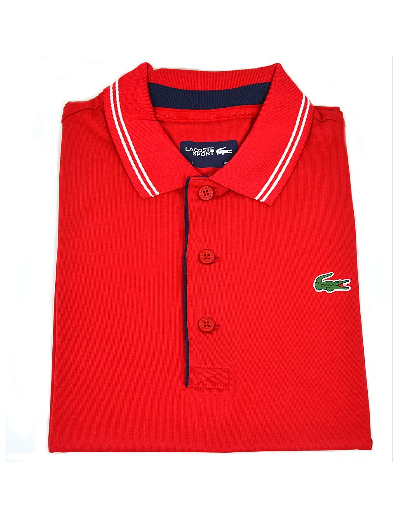 Perennial dentist Specifically  polo lacoste uomo manica corta ROSSO DH3360 STRETCH e ULTRA DRY
