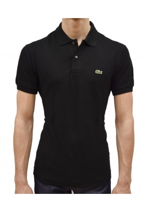 polo uomo lacoste slim fit corta 2 bottoni
