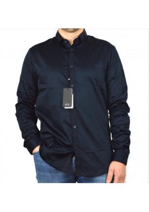 camicia uomo armani exchange da uomo sportiva ed elegante con colletto piccolo molto fresca e leggera 100% cotone