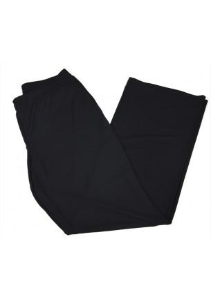 pantalone nero donna a zampa elena mirò taglie calibrate elastico in vita