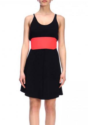 abito donna corto nero senza maniche estivo leggero elasticizzato