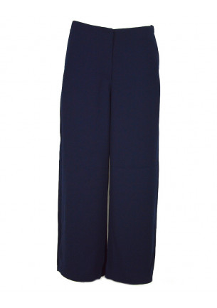 pantalone donna armani exchange blu largo in fondo saldi moda 6gyp04