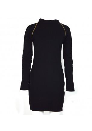 abito donna lungo armani exchange nero tubino manica lunga saldi moda