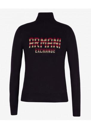 docevita donna armani exchange in misto lana sportivo magli donna colore nero