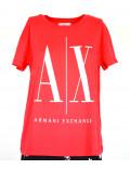 ARMANI EXCHANGE t-shirt donna maglietta estiva manica corta coral 8NYTCX