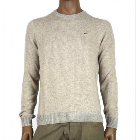 maglione da uomo lacoste girocollo in misto lana e cashmere