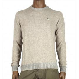 LACOSTE maglia uomo girocollo beige lana e cashmere AH9204