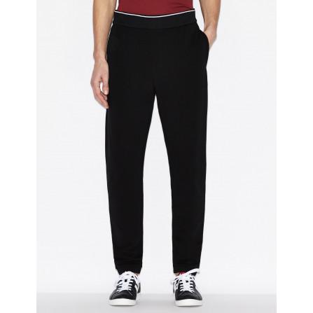 pantalone tuta slim fit armani uomo elasticizzato con tasca a filetto tasca posteriore