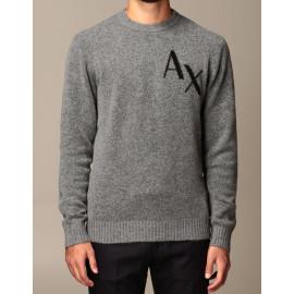 ARMANI EXCHANGE maglione lana uomo colore grigio 6HZM1H