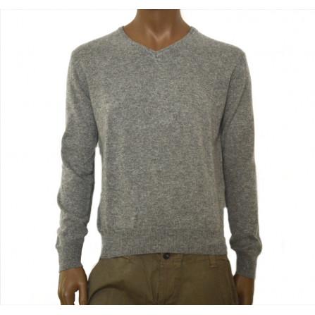 maglione uomo in  puro cashmere colore grigio invernale