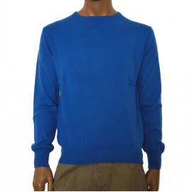 OFFICINA TESSILE maglia uomo puro cashmere cardiff girocollo blu