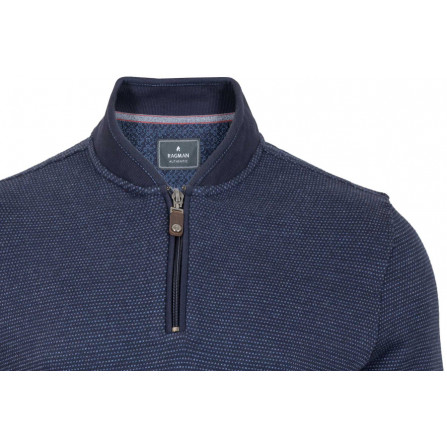 maglione uomo mezza zip blu taglie comode 4xl 5xl 6xl