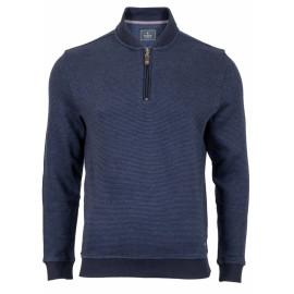 RAGMAN maglione uomo mezza zip blu 4XL 5XL 6XL