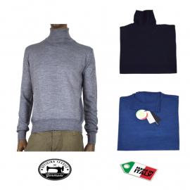 OFFICINA TESSILE maglia maglione dolcevita uomo lana invernale made in italy M L XL 2XL 3XL