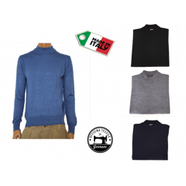 OFFICINA TESSILE maglia lupetto uomo lana invernale made in italy M L XL 2XL 3XL