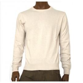 OFFICINA TESSILE maglione uomo girocollo misto cashmere colore panna