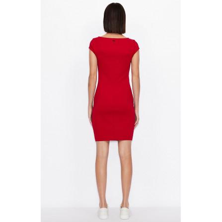 tubino armani exchange rosso elasticizzato aderente vestbilità slim fit