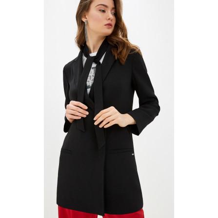 spolverino donna cappottino leggero armani exchange doppiopetto nero