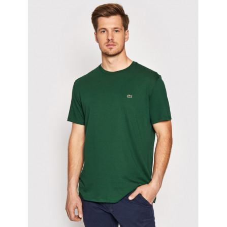 t-shirt maglietta manica corta lacoste uomo cotone pima cotton estiva leggera th6709 verde vert